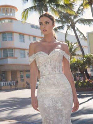Mira Couture Netta Benshabu Israeli Designer Eve Wedding Dress Bridal Gown Chicago Boutique Detail