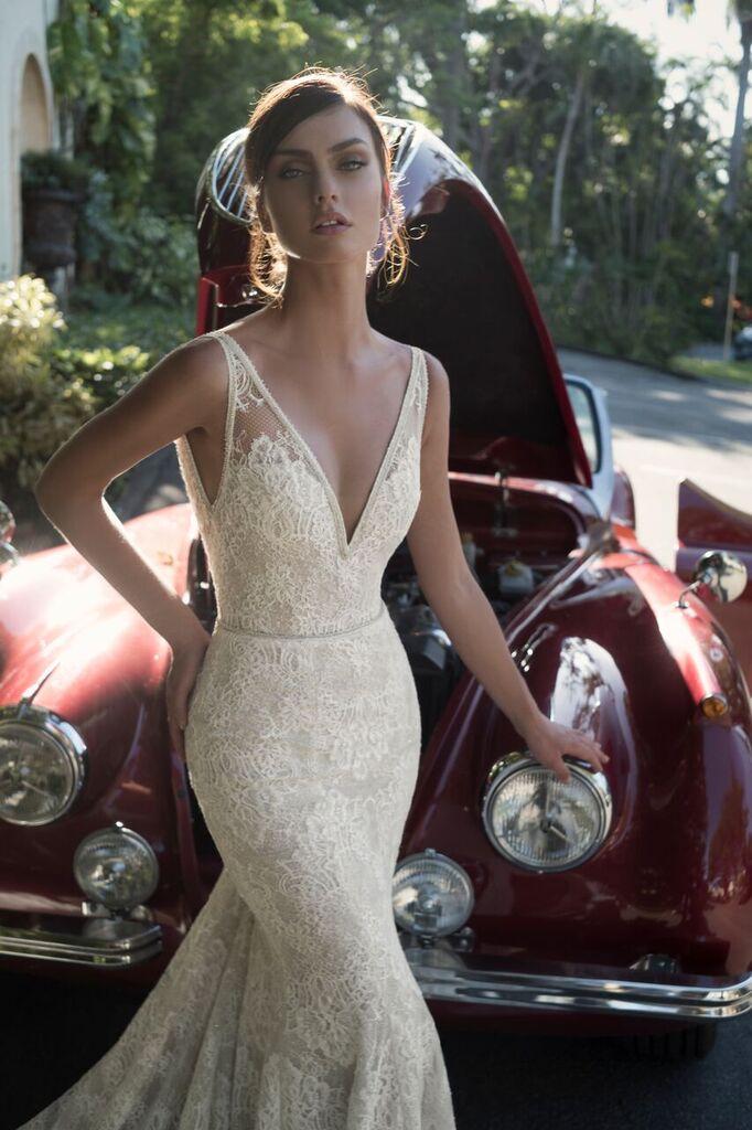 Mira Couture Netta Benshabu Israeli Designer Nadin Wedding Dress Bridal Gown Chicago Boutique Front