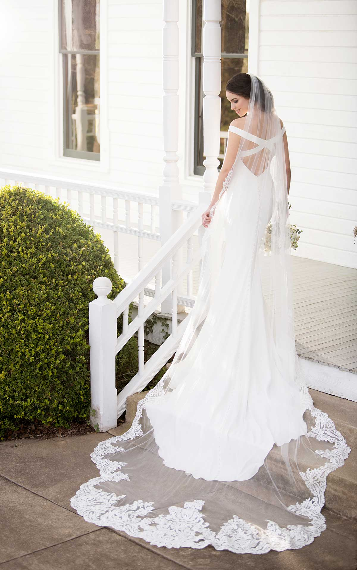 Mira Couture Martina Liana 1034 Wedding Dress Bridal Gown Chicago Boutique Back Full