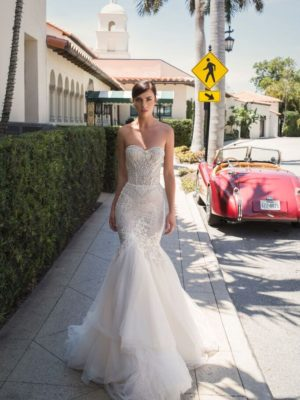 Mira Couture Netta Benshabu Israeli Designer Maureen Wedding Dress Bridal Gown Chicago Boutique Full Front