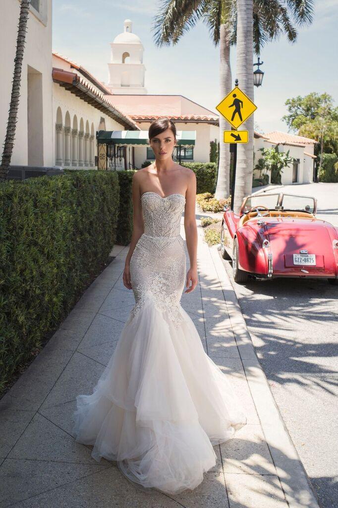 Mira Couture Netta Benshabu Israeli Designer Maureen Wedding Dress Bridal Gown Chicago Boutique Full Front