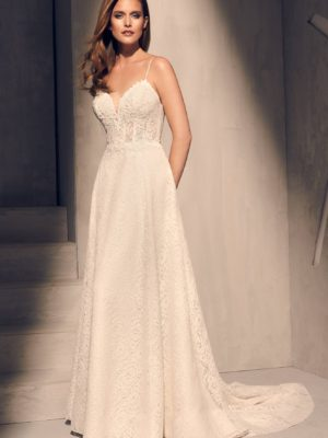 Mira Couture Mikaella 2201 Wedding Dress Bridal Gown Full