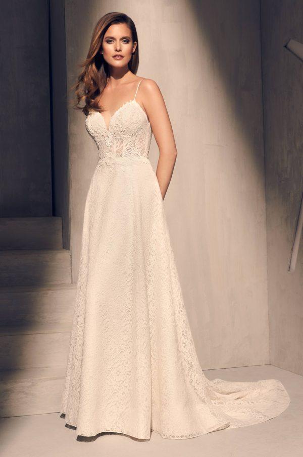 Mira Couture Mikaella 2201 Wedding Dress Bridal Gown Full