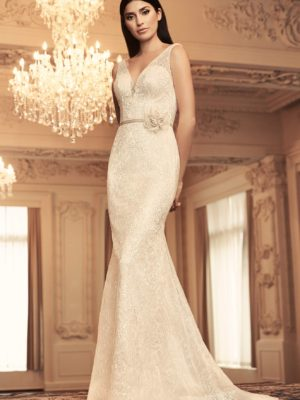 Mira Couture Paloma Blanca 4804 Wedding Dress Bridal Gown Chicago Boutique Front