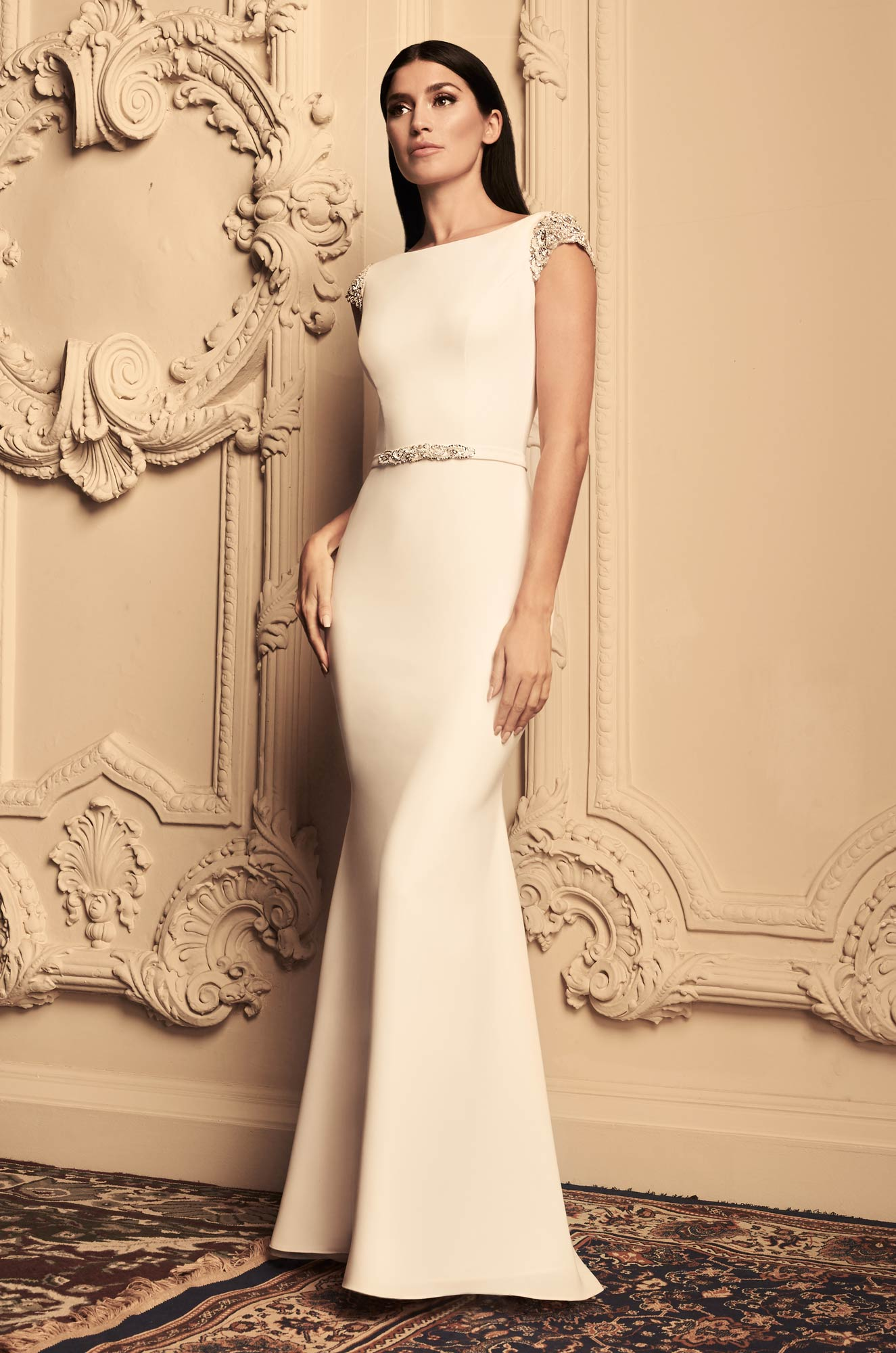 Mira Couture Paloma Blanca 4807 Wedding Dress Bridal Gown Chicago Boutique Front