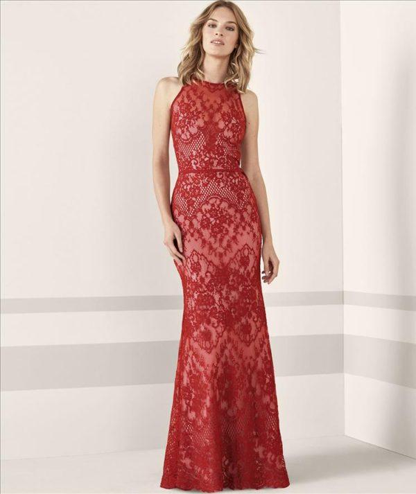 Mira Couture Pronovias Janele Evening Formal Wear Front
