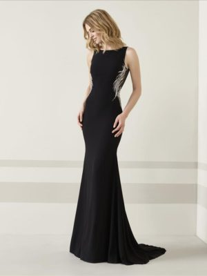 Mira Couture Pronovias Teron Evening Formal Wear Front
