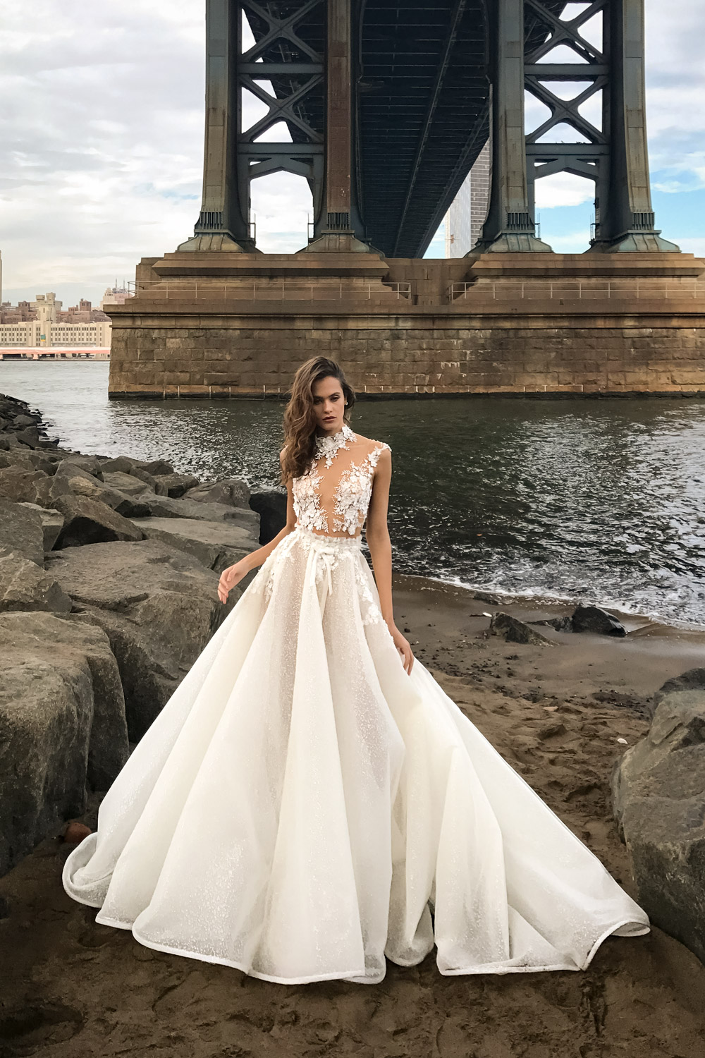 Mira Couture Solo Merav Sofia Wedding Dress Bridal Gown Chicago Boutique Front