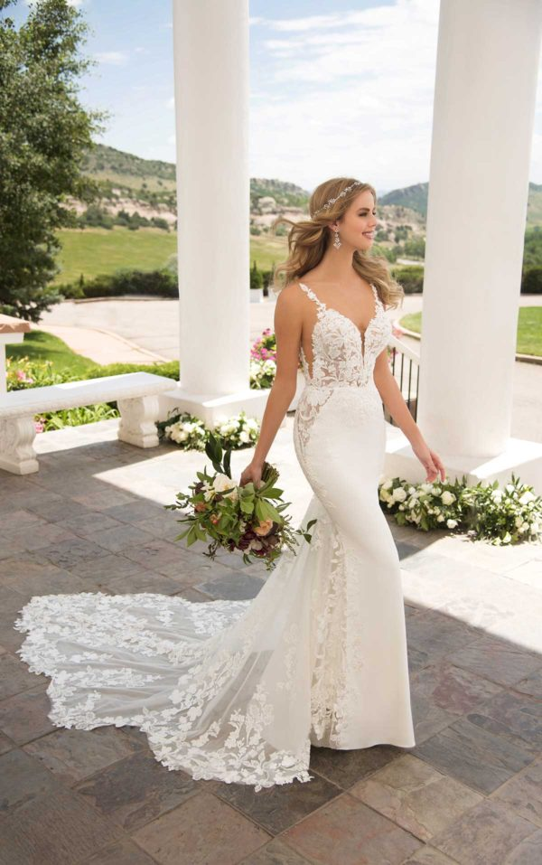 Mira Couture Martina Liana 1059 Wedding Dress Bridal Gown Chicago Boutique Full Side