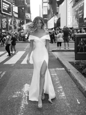 Mira Couture Netta Benshabu Smadar Wedding Dress Bridal Gown Chicago Boutique Front