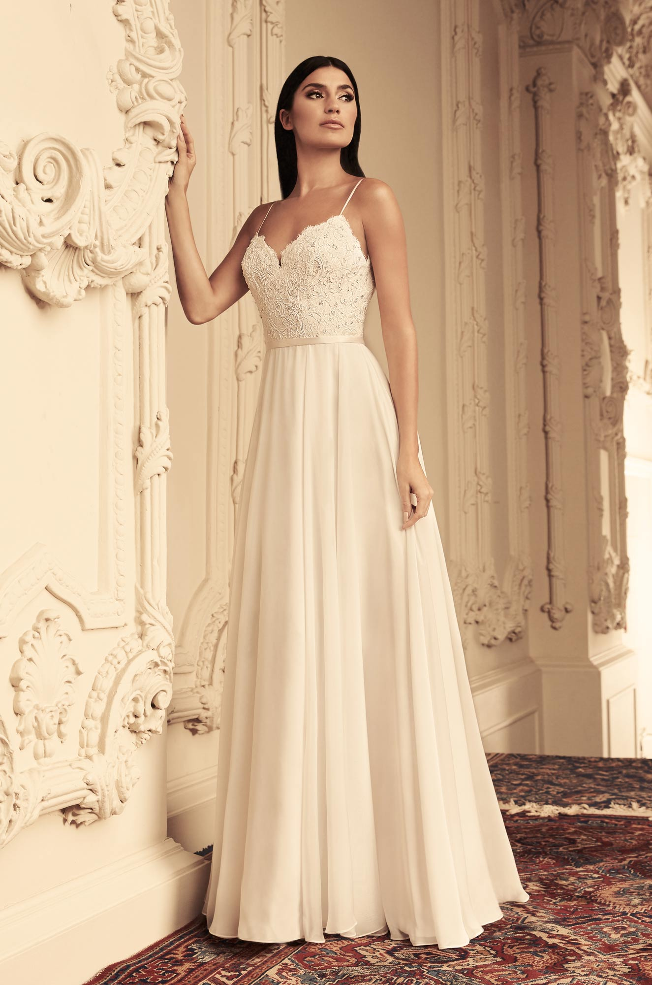 Mira Couture Paloma Blanca 4814 Wedding Dress Bridal Gown Chicago Boutique Front