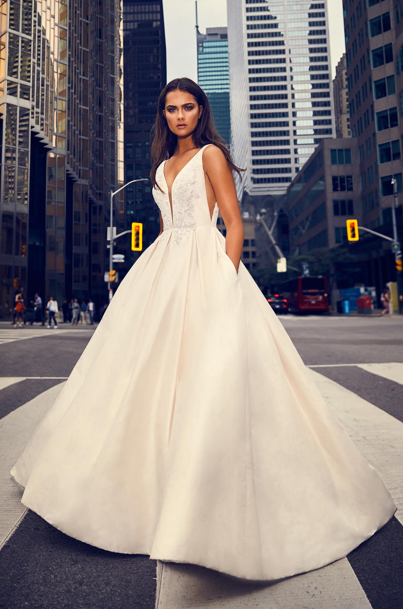 Mira Couture Paloma Blanca 4825 Wedding Dress Bridal Gown Chicago Boutique Back Full