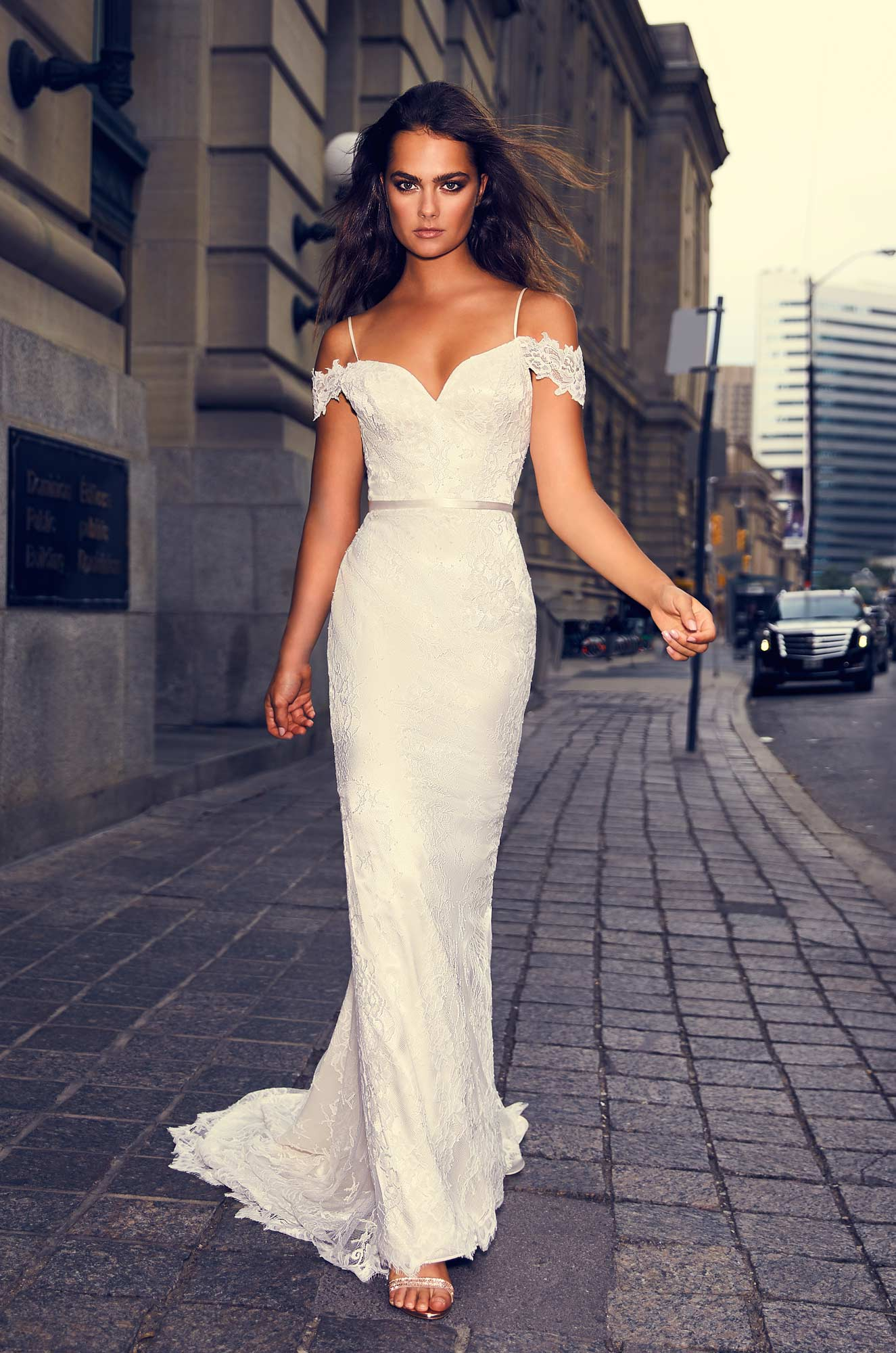 Mira Couture Paloma Blanca 4843 Wedding Dress Bridal Gown Chicago Boutique Front