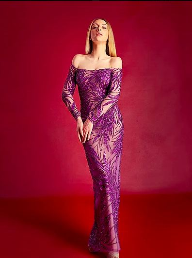 Mira Couture Stephen Yearick 10413 Evening Wear Formal Gown Chicago Boutique Front