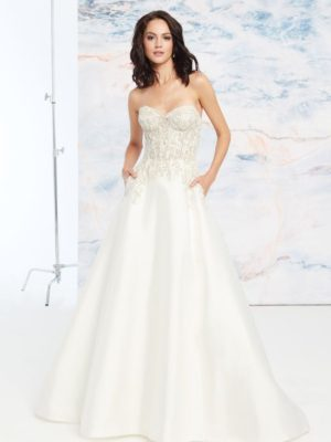 Mira Couture Justin Alexander Signature Aspen Wedding Dress Bridal Gown Front