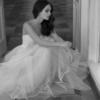 Mira Couture Ester Haute Couture E1808 Wedding Dress Bridal Gown Chicago Boutique Front BW