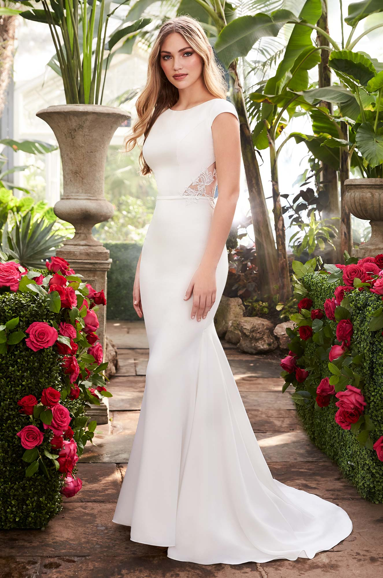 Mira Couture Mikaella 2250 Wedding Dress Bridal Gown Chicago Boutique Front