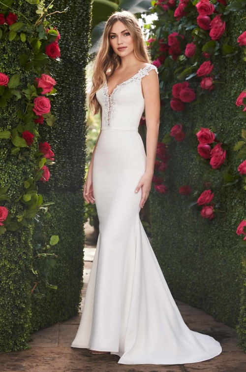 Mira Couture Mikaella 2252 Wedding Dress Bridal Gown Chicago Boutique Front