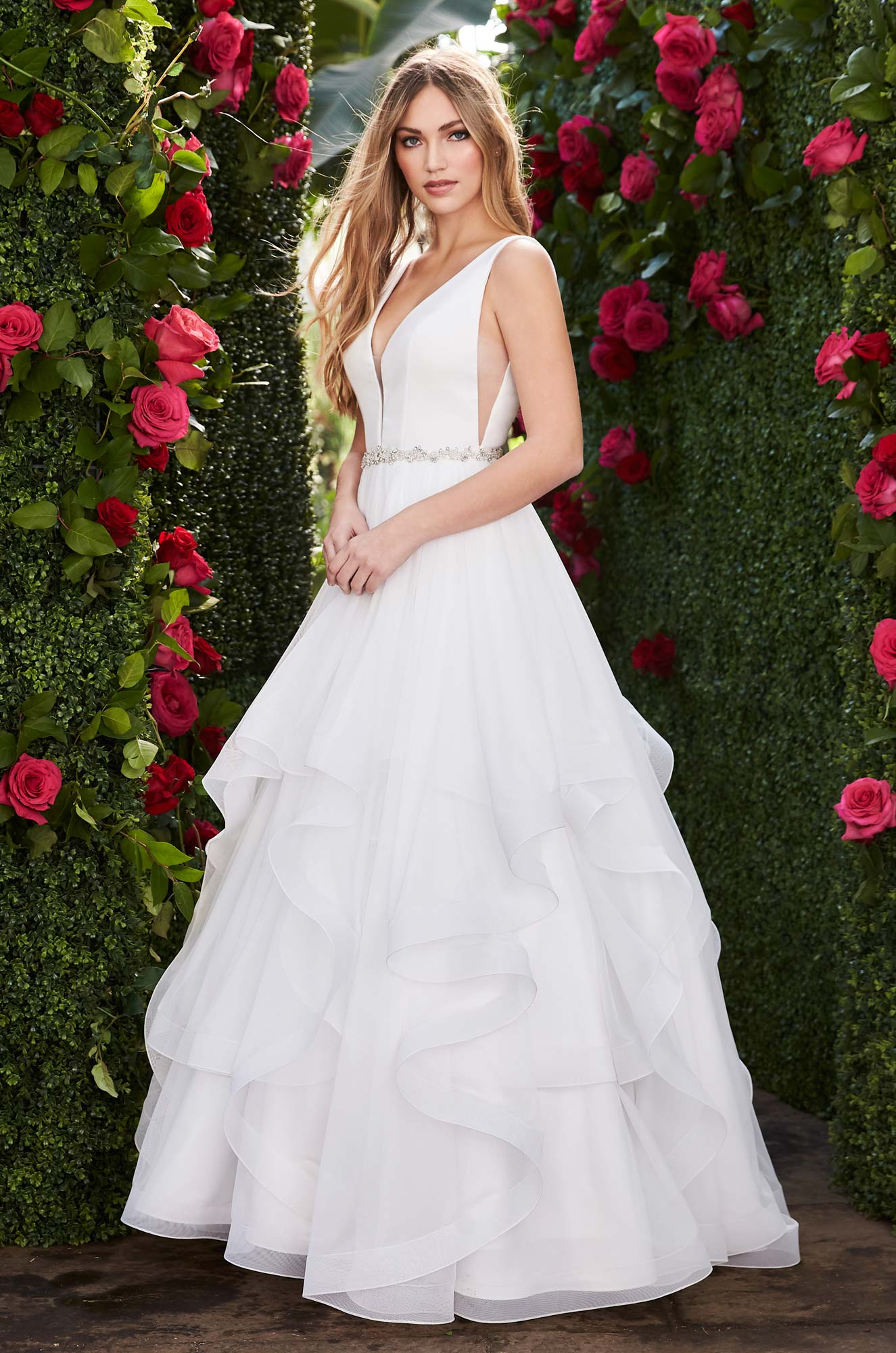 Mira Couture Mikaella 2255 Wedding Dress Bridal Gown Chicago Boutique Front