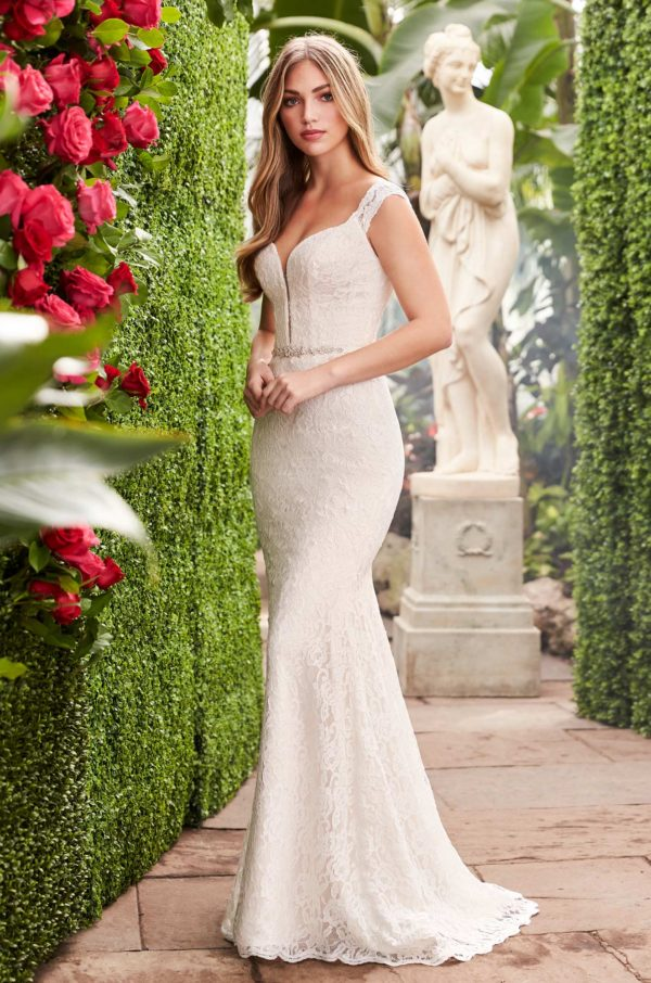Mira Couture Mikaella 2271 Wedding Dress Bridal Gown Chicago Boutique Front