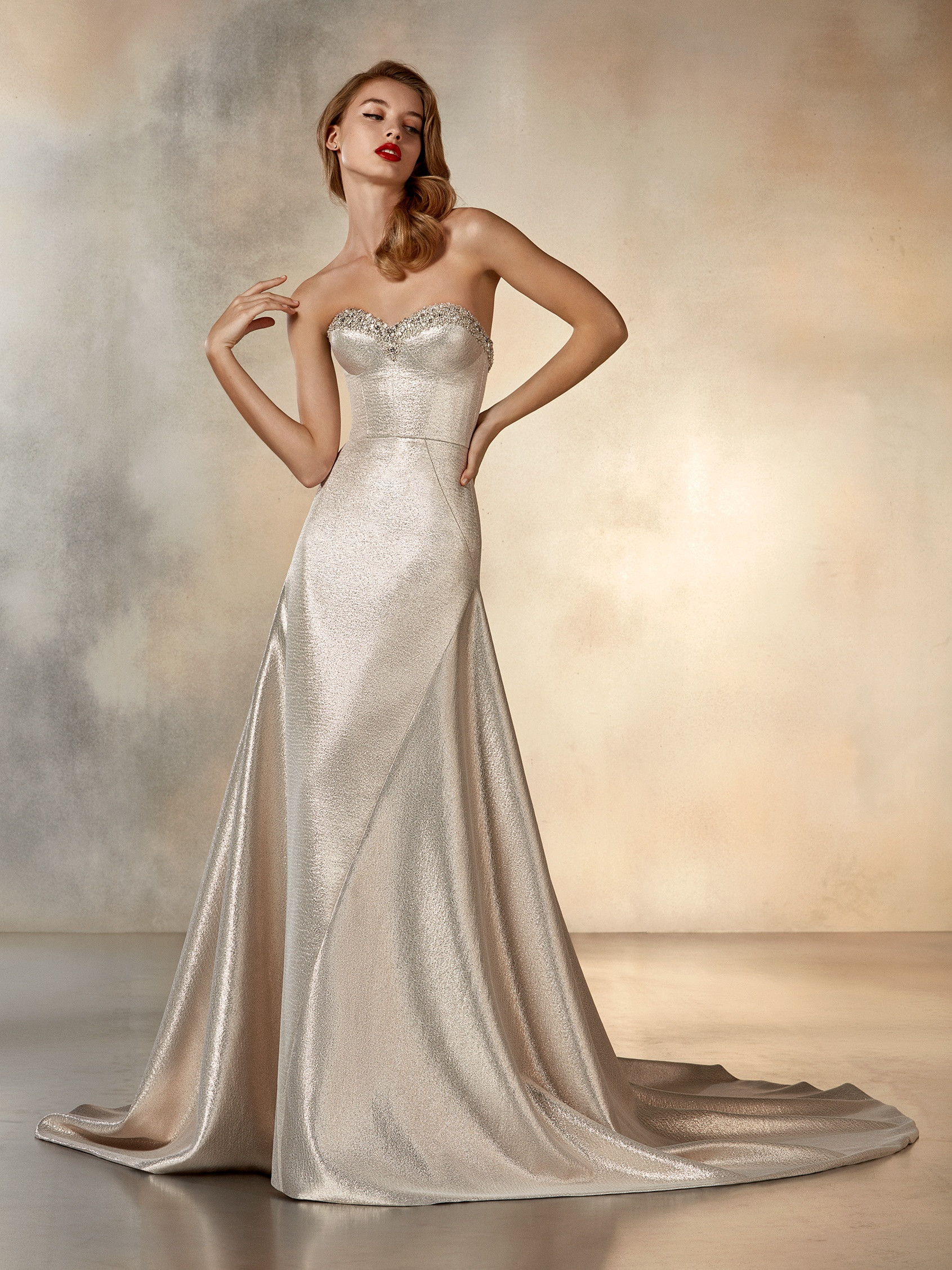 Mira Couture Pronovias Rising Wedding Dress Bridal Gown Barcelona Designer Chicago Boutique