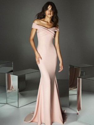 Mira Couture Pronovias Style 02 Evening Formal Wear Chicago Boutique Front