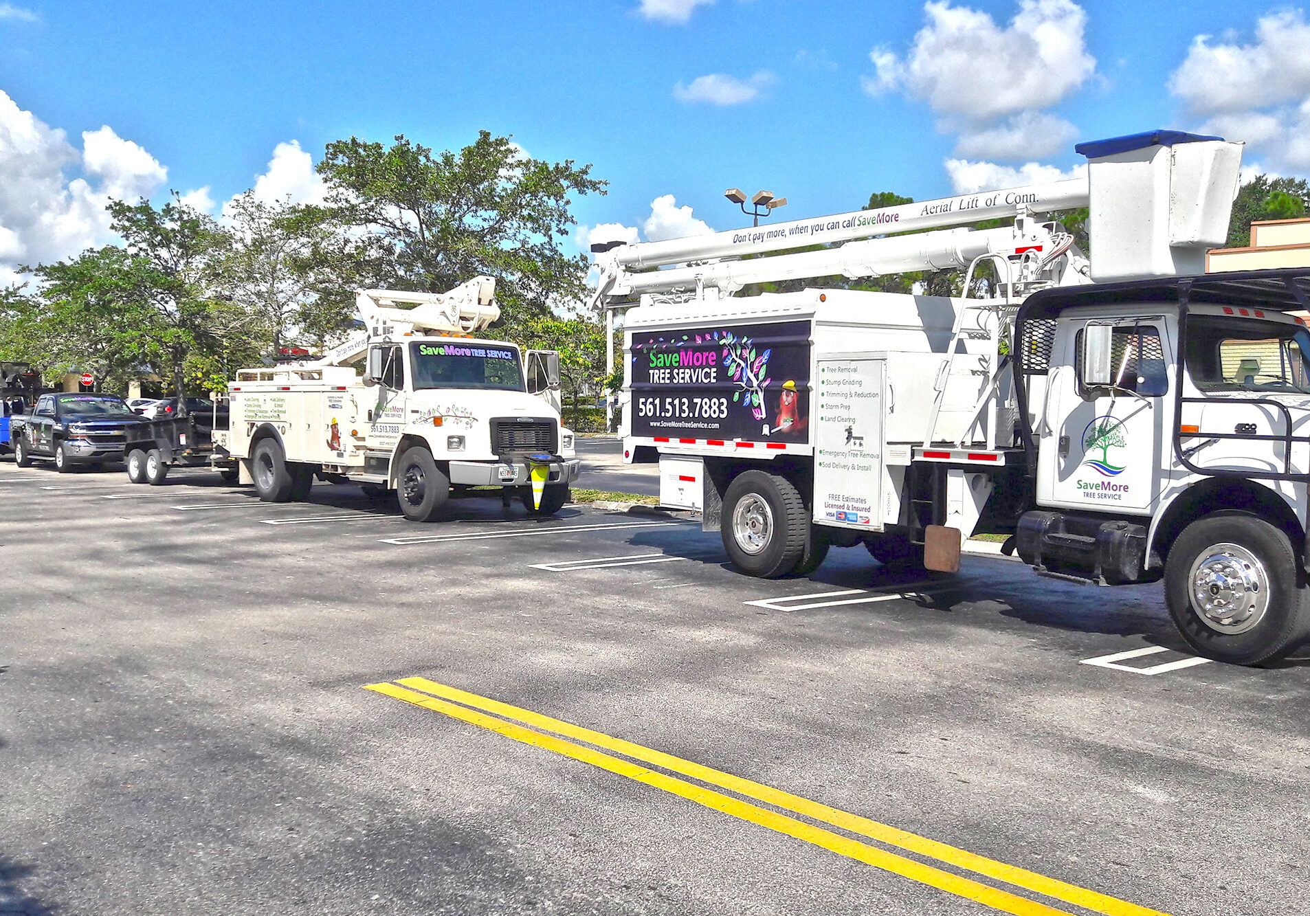 SaveMore Tree Service Fleet