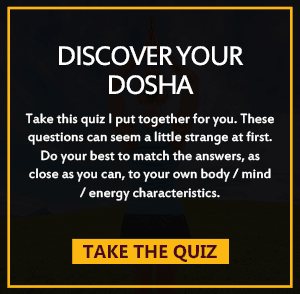 DISCOVER YOUR DOSHA QUIZ