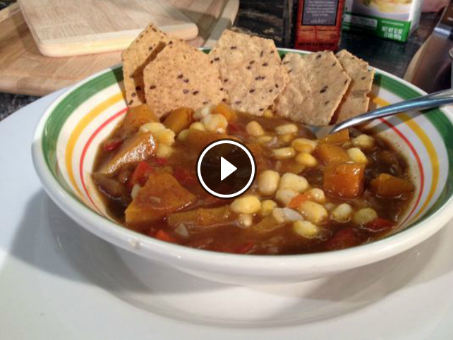 Hominy Butternut Squash Stew