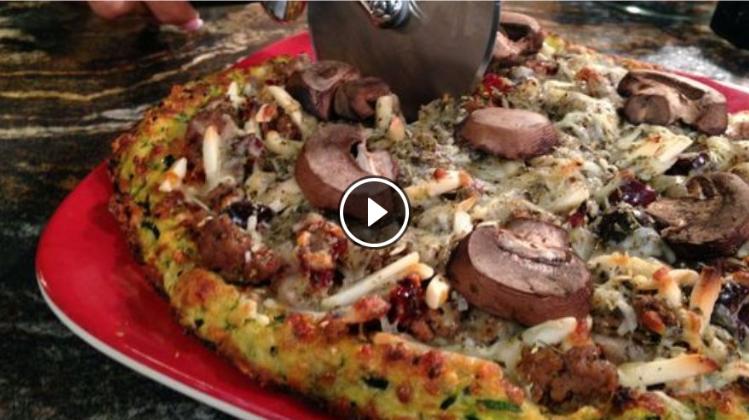 Zesty Zucchini Pizza Crust with Ground Lamb and Turkey w/video