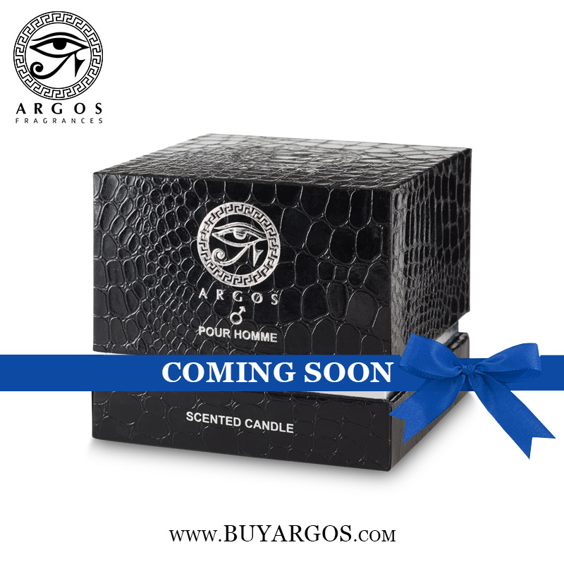 Argos Pour Homme Scented Candle Box Coming Soon lable