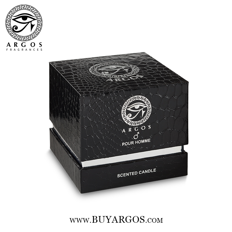 Argos Pour Homme Scented Candle Black Box Top