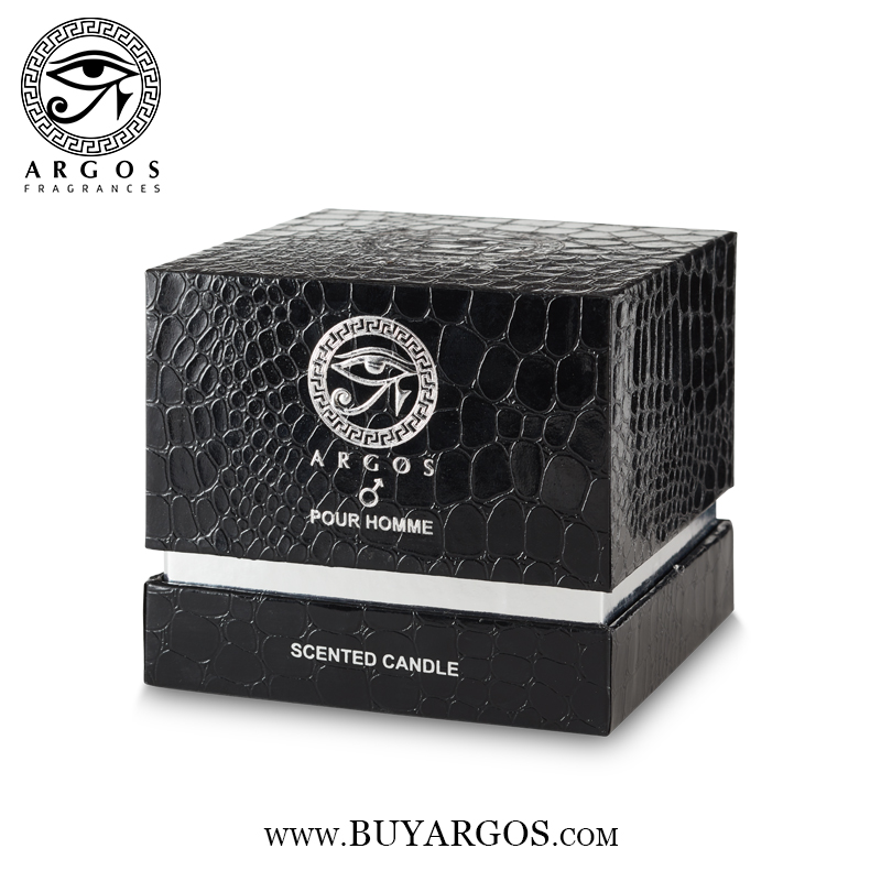Argos Pour Homme Scented Candle Black Box Right