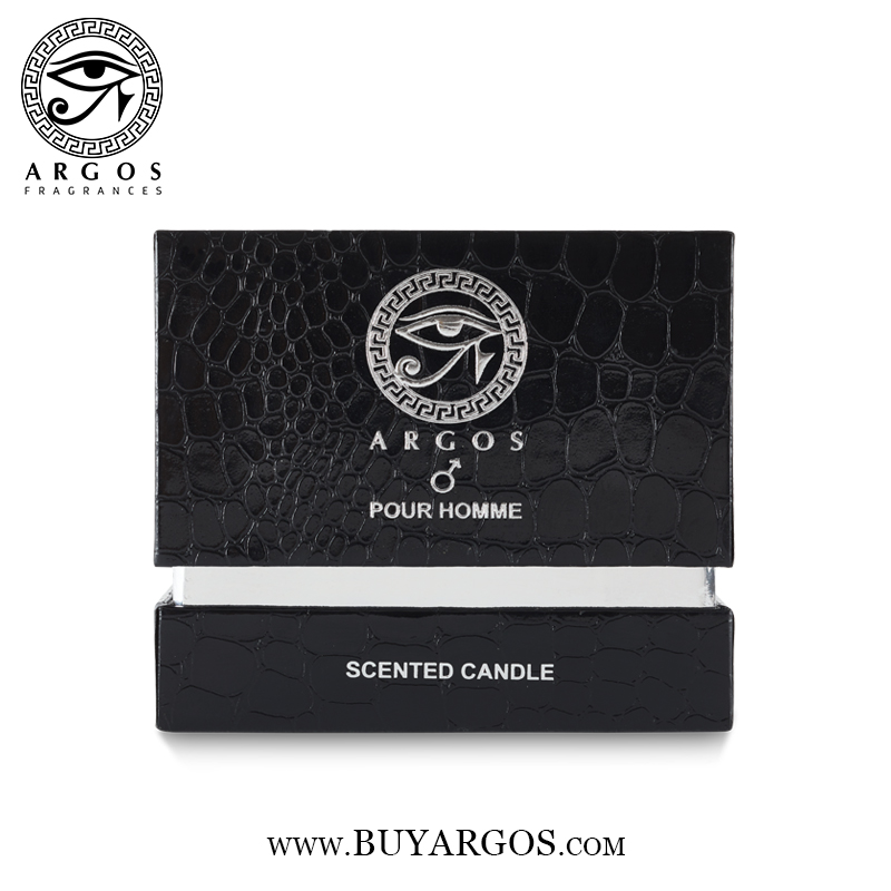 Argos Pour Homme Scented Candle Black Box