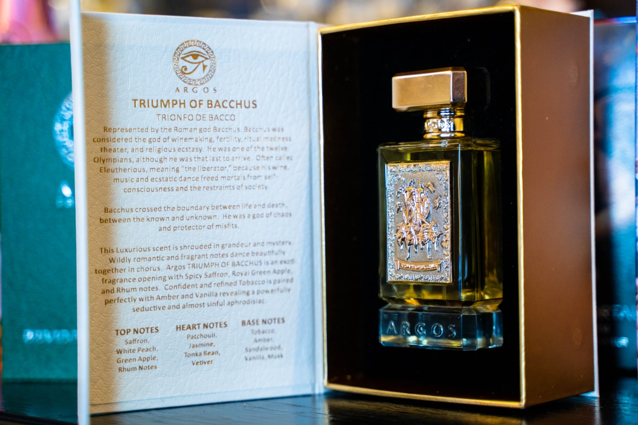 Argos Perfume Triumph Of Bacchus Open Stand Box