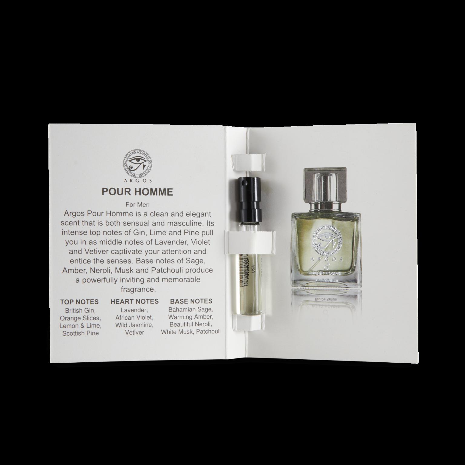 Argos Fragrances Sample Pack Pour Homme