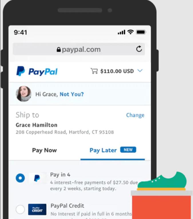 Choose PayPal at Checkout