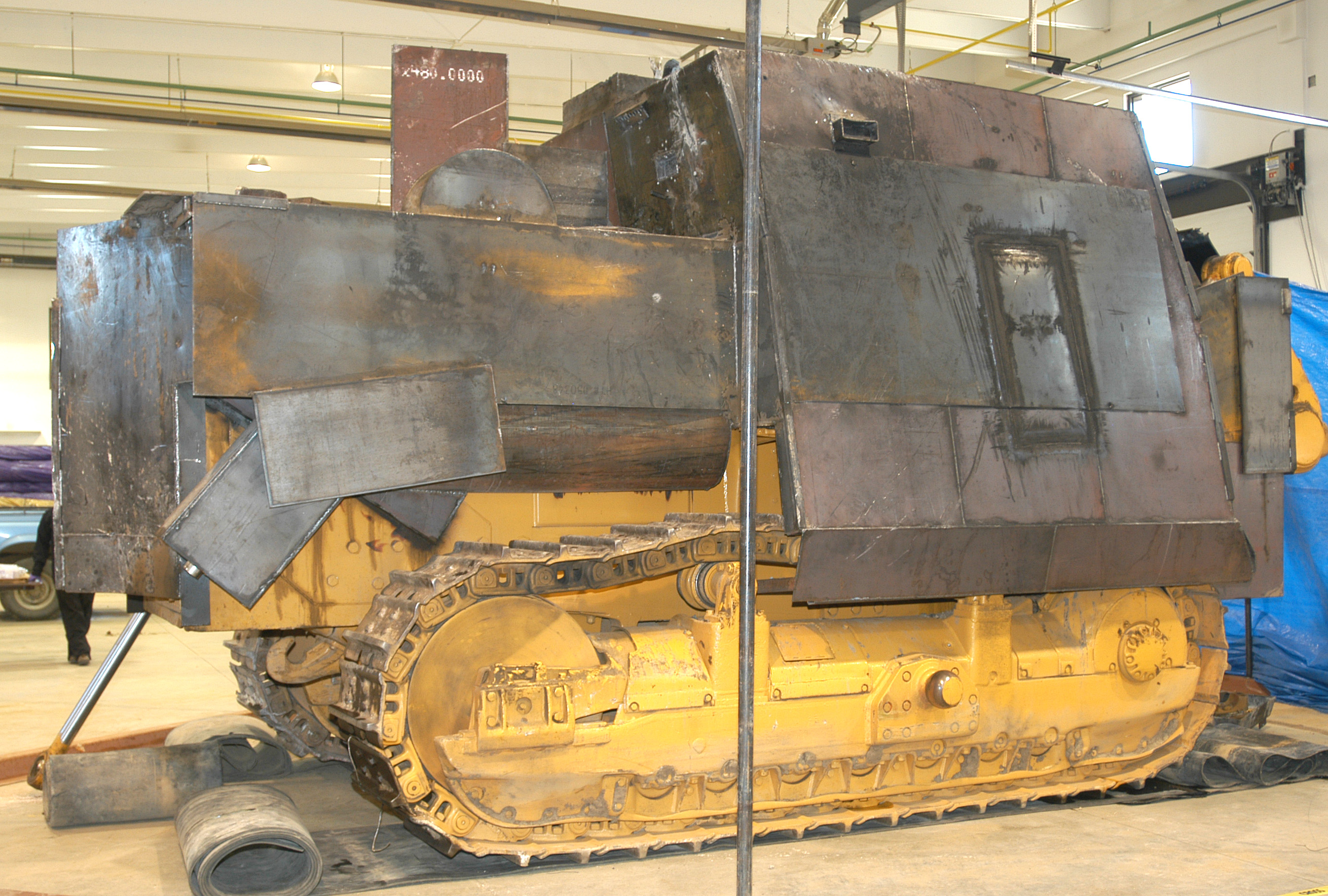 The KILLDOZER was well-armed, stopping any and all bullets fired at Marv Heemeyer's creation, which he called Marv's MK Dozer.