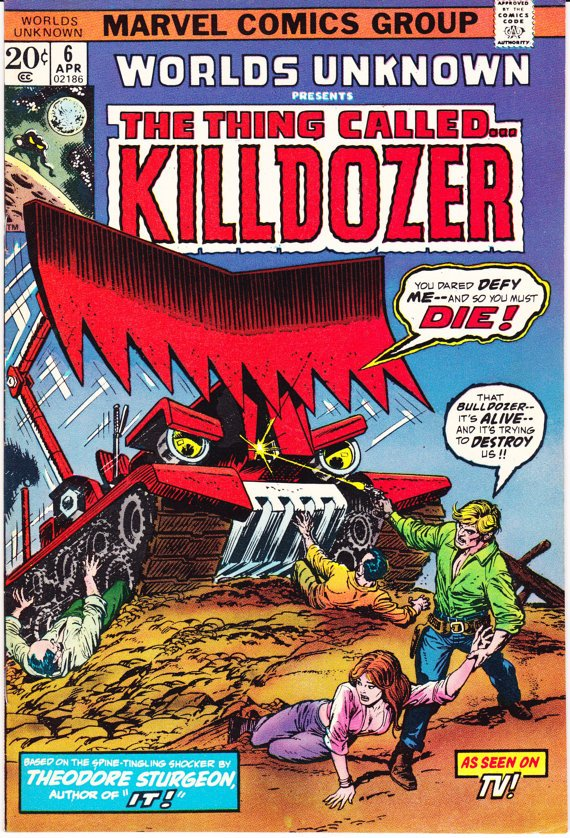 Cartoon effectiveness of KILLDOZER comic