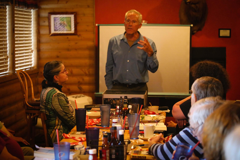 Author speaking