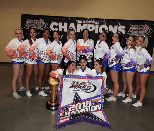 USA All Star Cheer Girls Rise Up Athletics