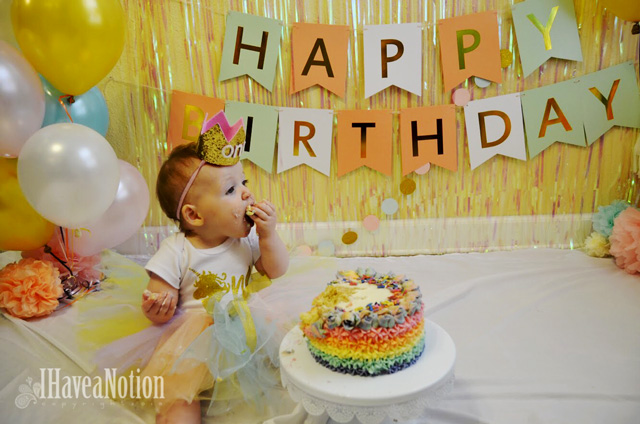 1 Year Old with a Smash Cake