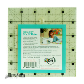 Quilters Select 5x5 inch square ruler