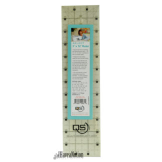 Quilters Select 3x12 inch non slip rotary ruler