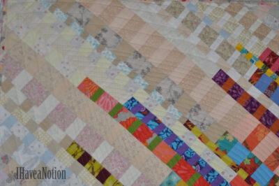 Detail of the Stripey Strip Quilt