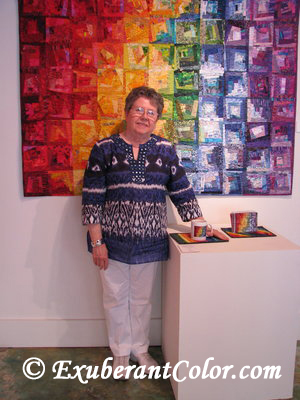 Wanda of ExuberantColor.com at the opening of her one-woman show at the  Ciel Gallery in Charlotte NC