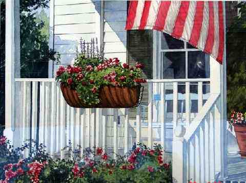 """Porch Flowers"""