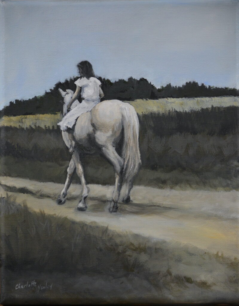 """Charlotte Yealey #39 """"Charlie's Ride"""" Oil and Acrylic Paintings/ oil painting $250"""