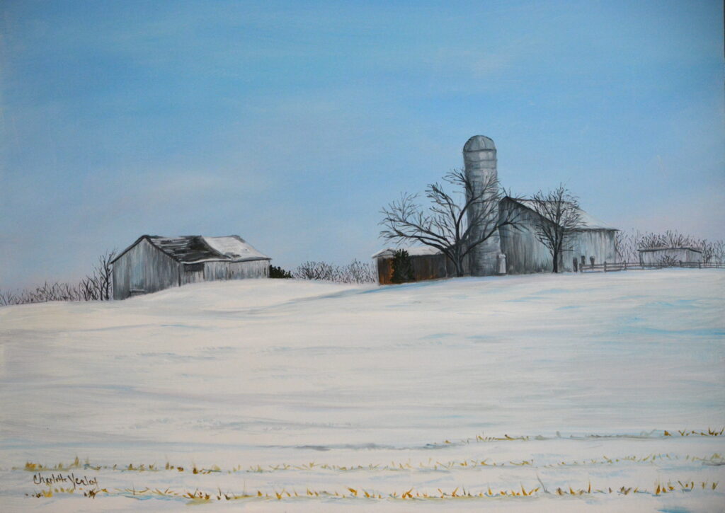"""Charlotte Yealey #39 """"Forgotten Farm"""" Oil and Acrylic Paintings/ oil painting $300"""