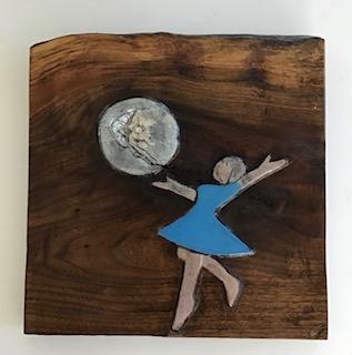 Prudence Reichart #77 Moon Dancing Wood Carving $55